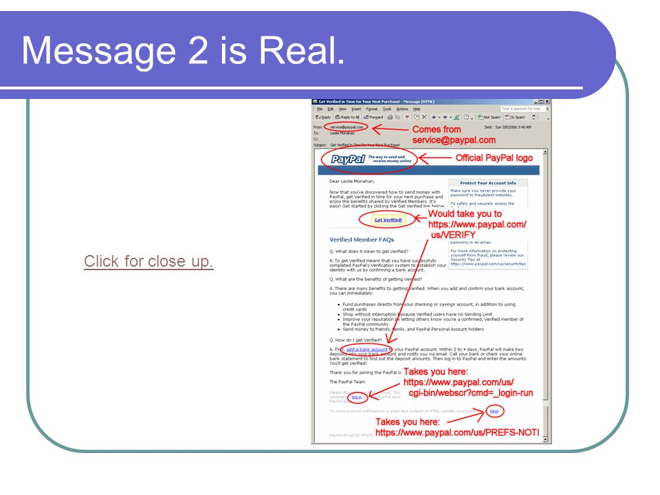 Message 2 is Real. Click for close up.