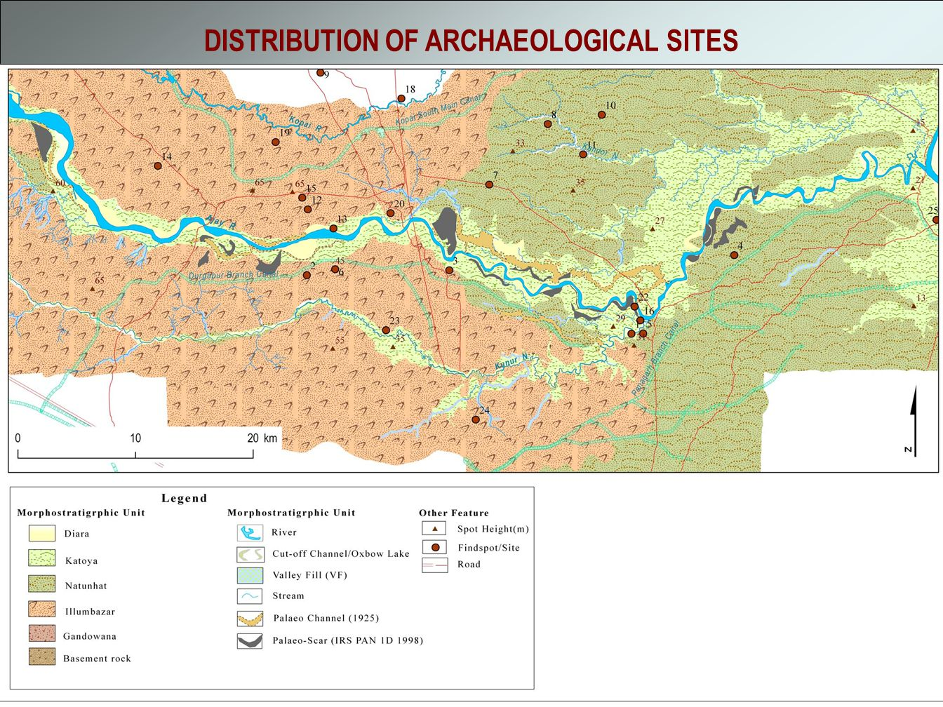 DISTRIBUTION OF ARCHAEOLOGICAL SITES