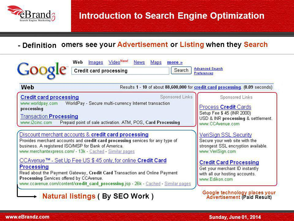www.eBrandz.com Sunday, June 01, 2014 - Google Webmaster tool where you can check crawling stats, link stats and errors in the site.