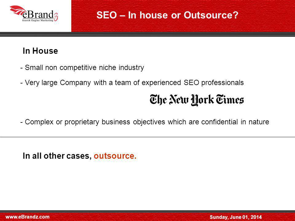 www.eBrandz.com Sunday, June 01, 2014 Off page Optimization - Directory submission : A few important paid and free directories Yellow Pages Submission Local Directory submission