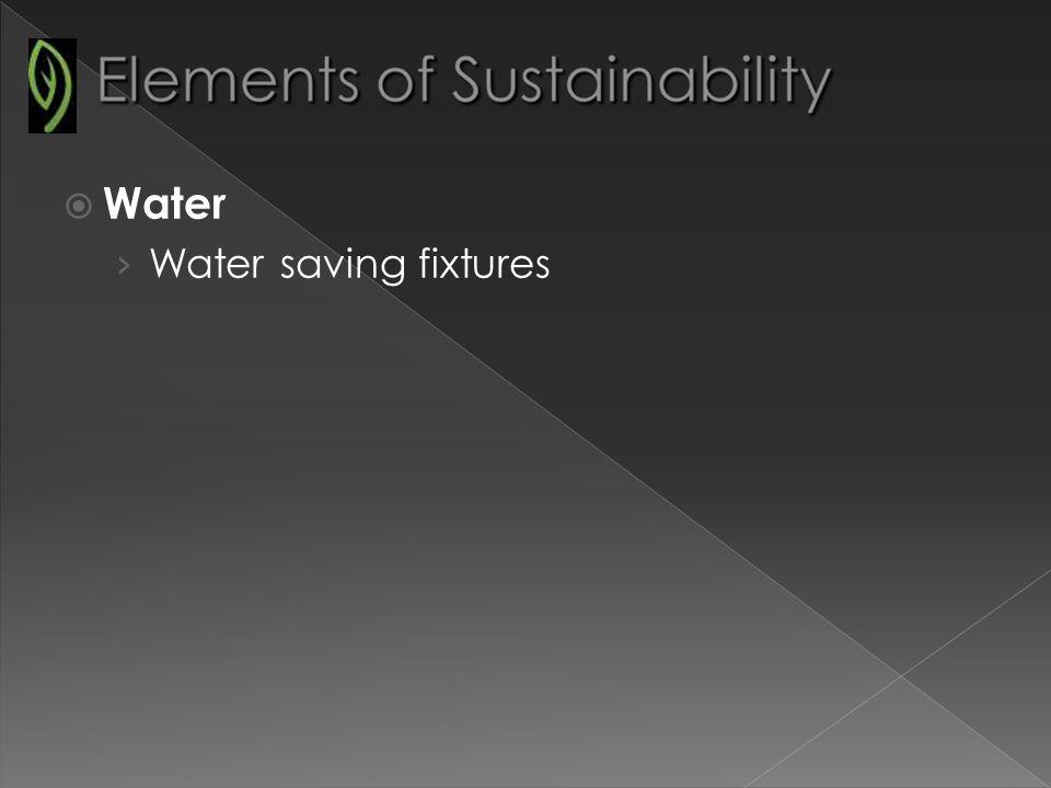 Water Water saving fixtures
