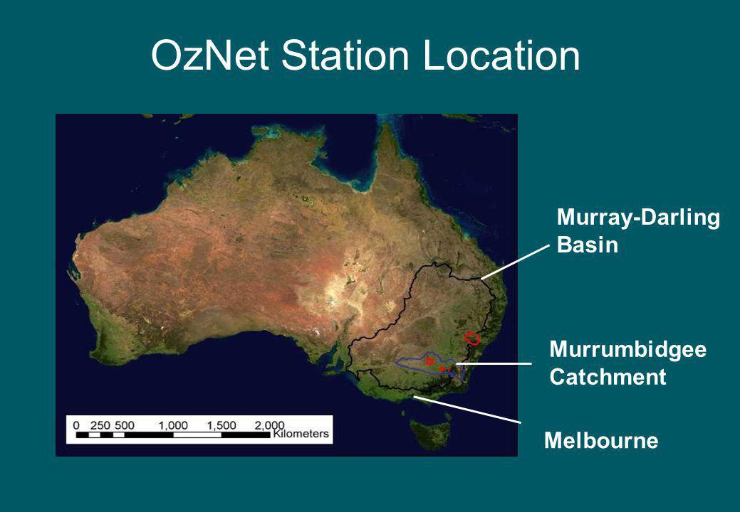 OzNet Station Location Murrumbidgee Catchment Murray-Darling Basin Melbourne