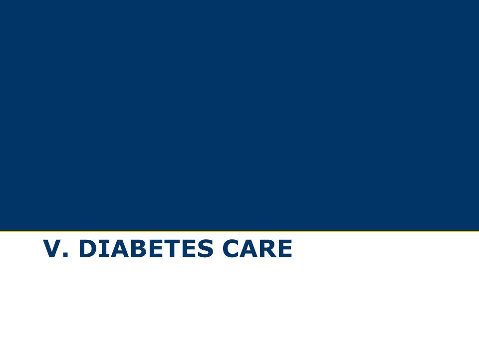 V. DIABETES CARE