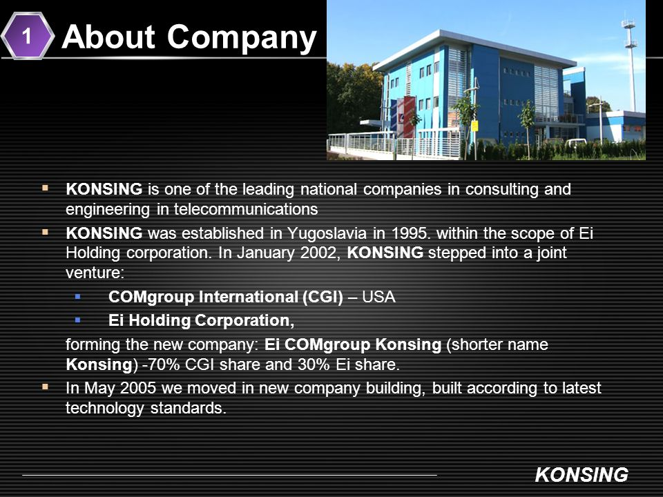 www.konsing.com KONSING MOBILE TELEPHONY NETWORKS WIRELESS ACCESS NETWORKS INFORMATION TECHNOLOGIES TRANSMISSION SYSTEMS RADIO NAVIGATION TECHNOLOGY CONSULTING REFERENCE LIST 4