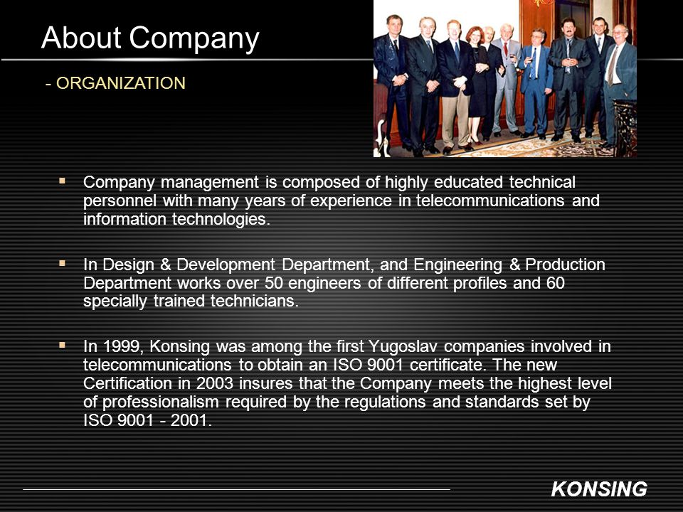 KONSING About Company - ANNUAL REVENUE / NUMBER OF EMPLOYEES