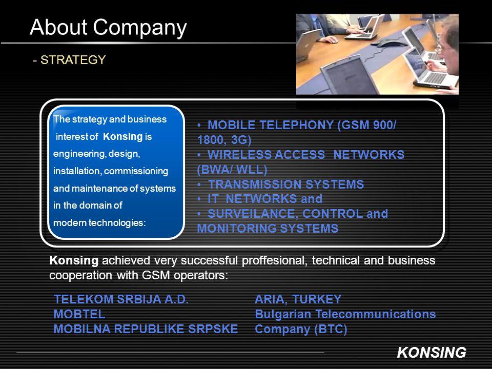 KONSING About Company - PARTNERS International Partnerships www.ericsson.comwww.marconi.com www.alvarion.com www.airspan.com www.zhone.com www.parkairsystems.com www.microwavenetworks.com www.honeywell.com