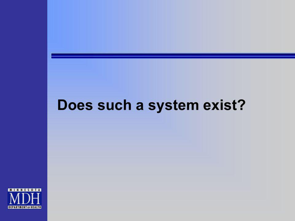Does such a system exist