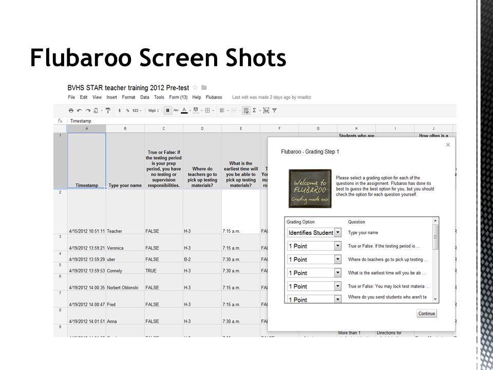 Flubaroo Screen Shots