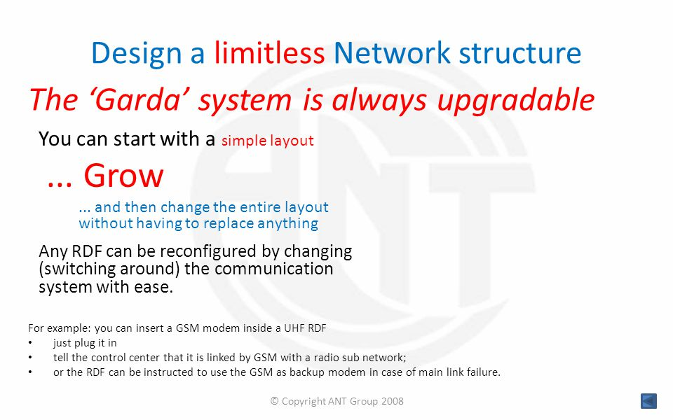 Design a limitless Network structure You can start with a simple layout...