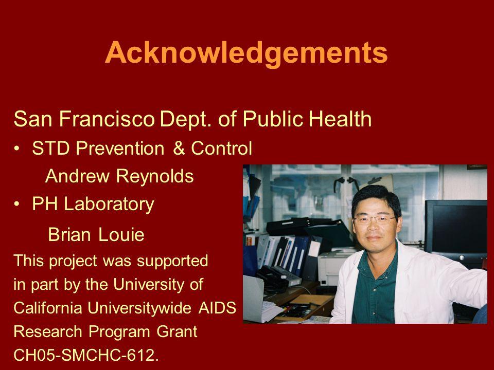 Acknowledgements San Francisco Dept.