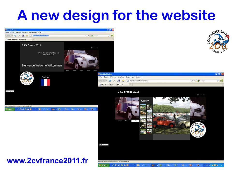 A new design for the website www.2cvfrance2011.fr