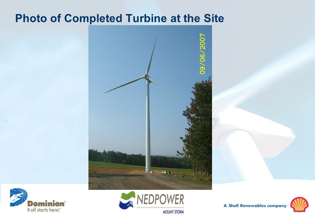 Photo of Completed Turbine at the Site