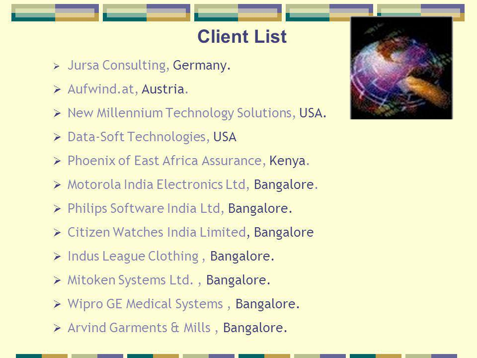 Client List Jursa Consulting, Germany. Aufwind.at, Austria.