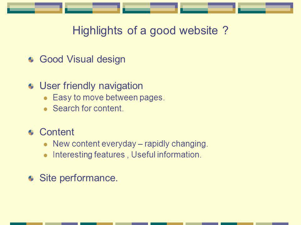 What constitutes website content .