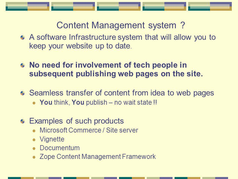 Content Management system .