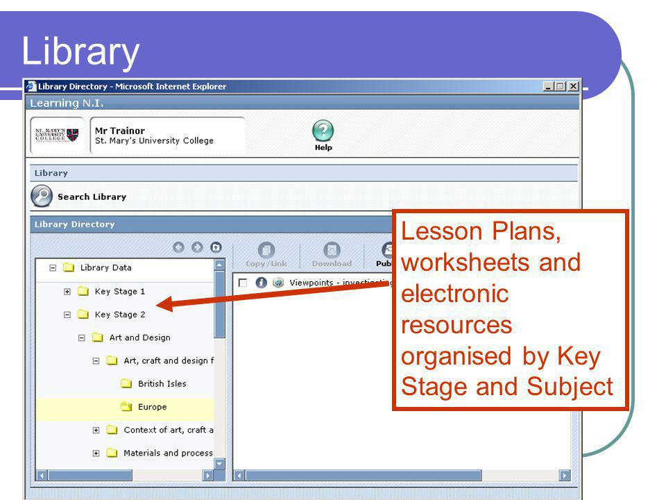 Library Lesson Plans, worksheets and electronic resources organised by Key Stage and Subject