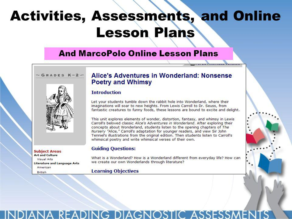 Activities, Assessments, and Online Lesson Plans And MarcoPolo Online Lesson Plans
