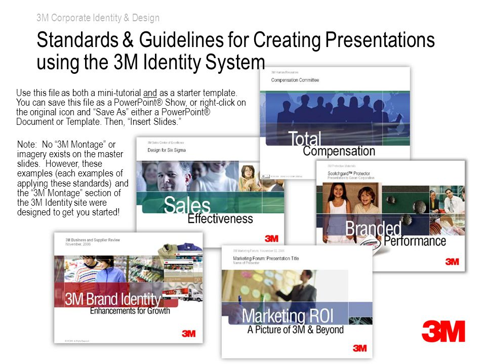 3M Identifier – e.g., 3M Corporate Communications (16 pt. Arial Narrow) Space for 3M Montage © 3M 2007. All Rights Reserved. Note: No 3M Montage or im