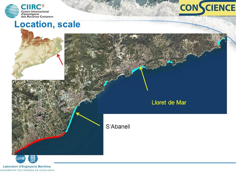 Lloret de Mar SAbanell Location, scale