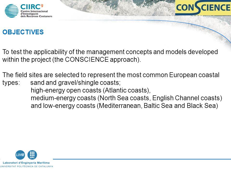 CONSCIENCE Coastal Sites (6) 1.Dutch coast, NL (North Sea).