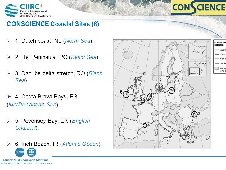 CONSCIENCE Coastal Sites (6) 1. Dutch coast, NL (North Sea).