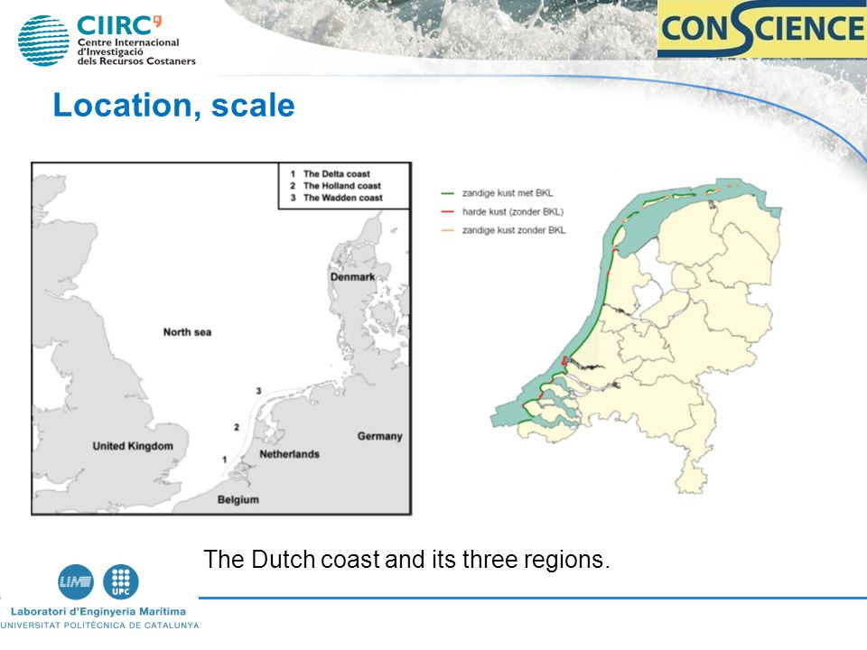 Location, scale The Dutch coast and its three regions.