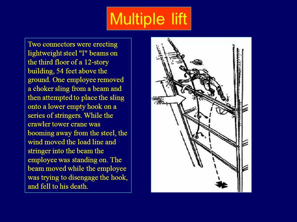 Two connectors were erecting lightweight steel