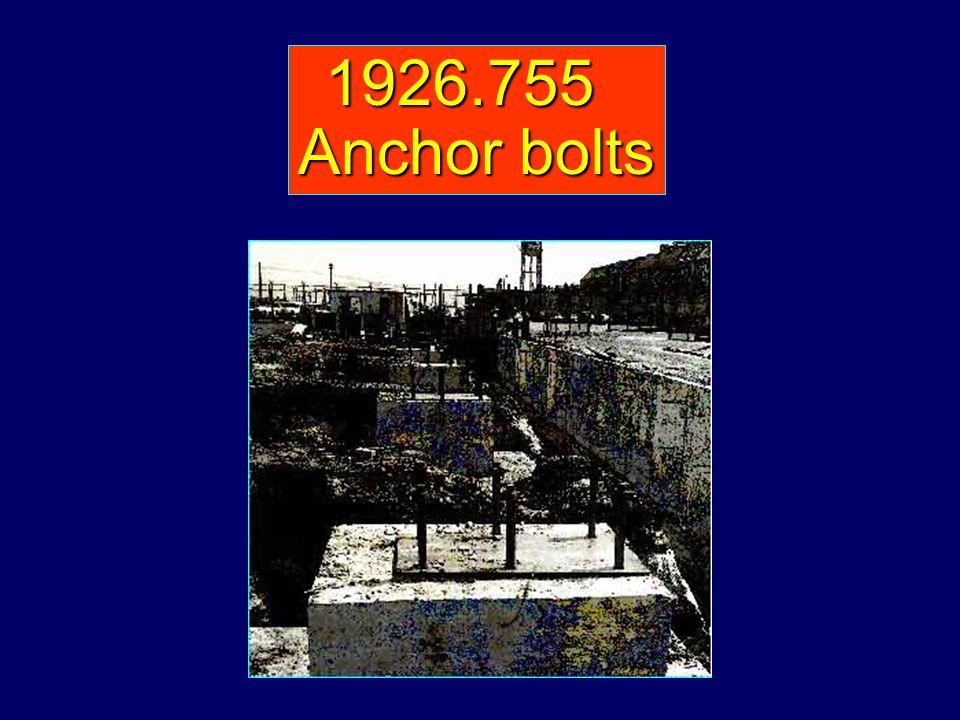 1926.755 Anchor bolts