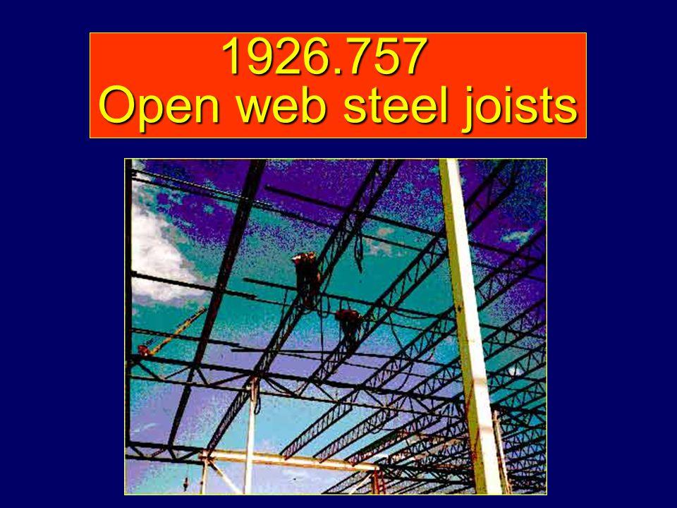 1926.757 Open web steel joists