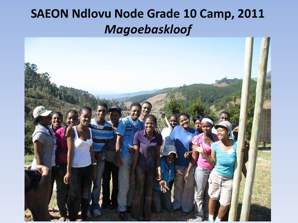SAEON Ndlovu Node Grade 10 Camp, 2011 Magoebaskloof