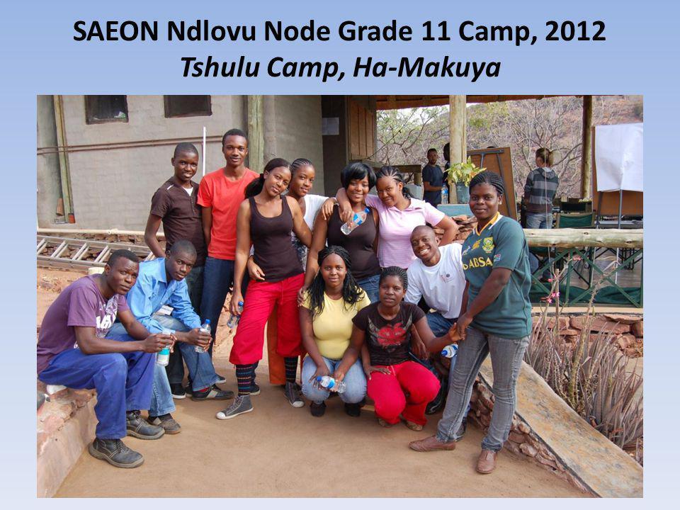 SAEON Ndlovu Node Grade 11 Camp, 2012 Tshulu Camp, Ha-Makuya