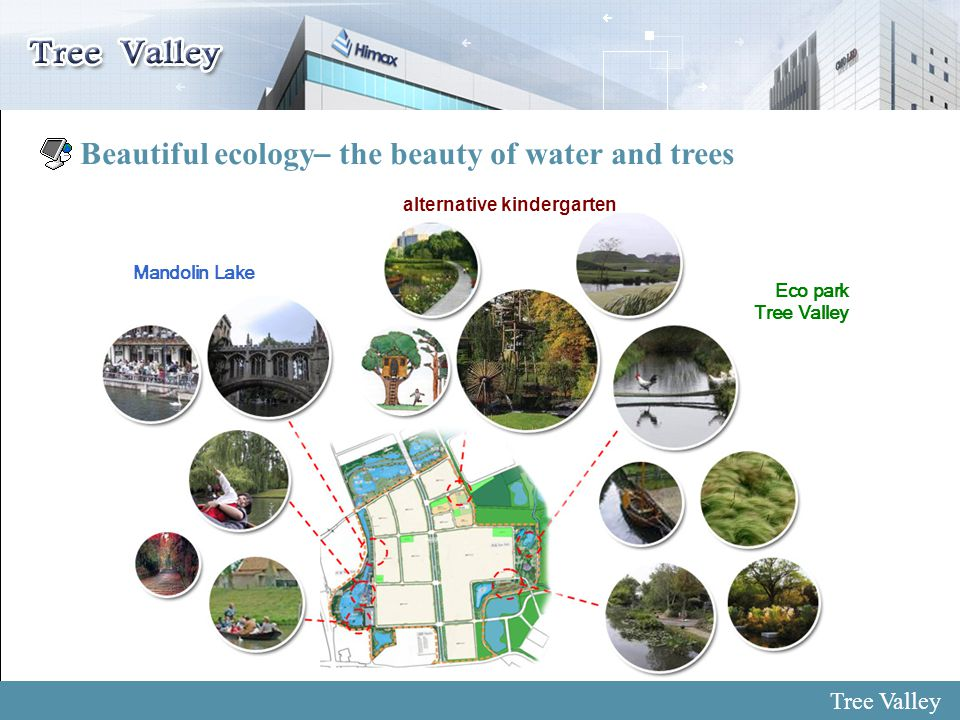 6 Beautiful ecology – the beauty of water and trees Eco park Tree Valley alternative kindergarten Mandolin Lake Tree Valley