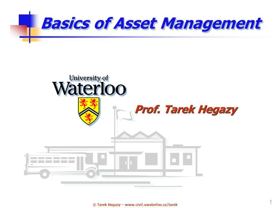 © Tarek Hegazy – www.civil.uwaterloo.ca/tarek 22 4 Systems, Surveys & Studies City Works