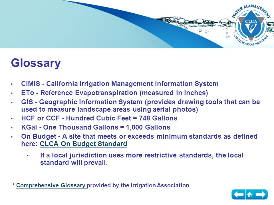 Certification Basic Principles: Plants Plants use water (obtained in almost all cases through their roots) to perform numerous chores, ranging from photosynthesis to cooling to providing strength in stems Unfortunately, there are few monocultures in landscaping; you will need to water to the requirement of the plant with the highest Demand The WUCOLS Study by the California Cooperative Extension Service assigned a Water Use Index to thousands of the most common plants:WUCOLS Study High, Medium, Low and Very Low Water Use The WUCOLS Study suggests that water use can range over a range of 500% or more based on the species of plant being irrigated