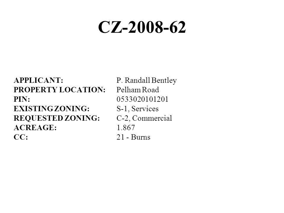 CZ-2008-62 APPLICANT: P.
