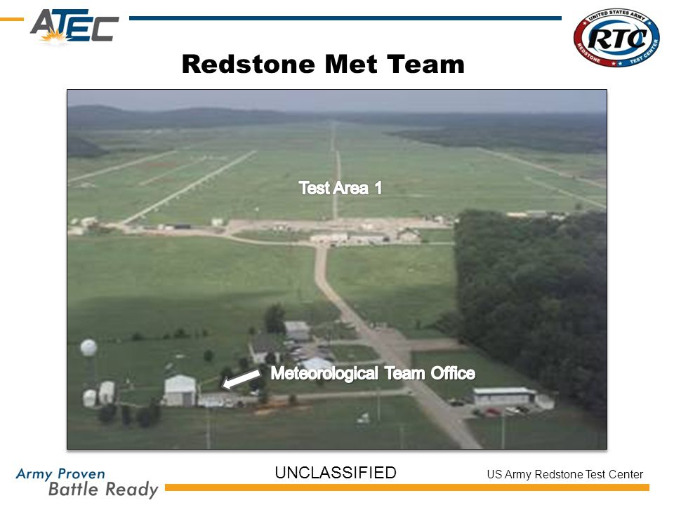 US Army Redstone Test Center UNCLASSIFIED Redstone Met Team