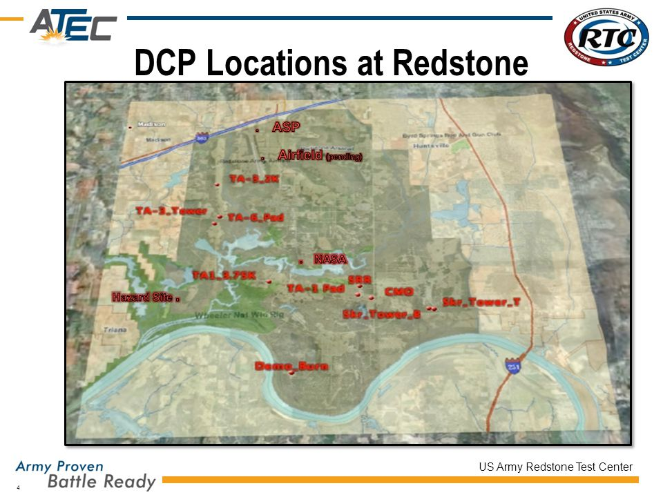 US Army Redstone Test Center DCP Locations at Redstone 4