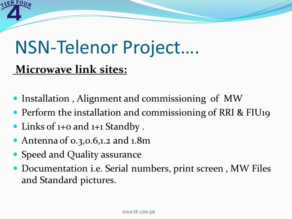 NSN-Telenor Project….