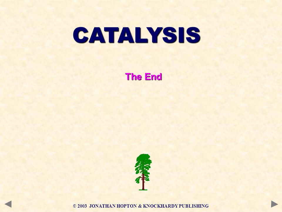 CATALYSIS The End © 2003 JONATHAN HOPTON & KNOCKHARDY PUBLISHING