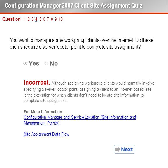 Question 1 2 3 4 5 6 7 8 9 10 You want to manage some workgroup clients over the Internet.