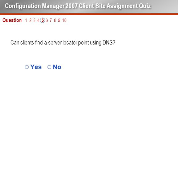 Can clients find a server locator point using DNS.