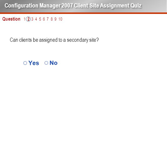 Can clients be assigned to a secondary site.