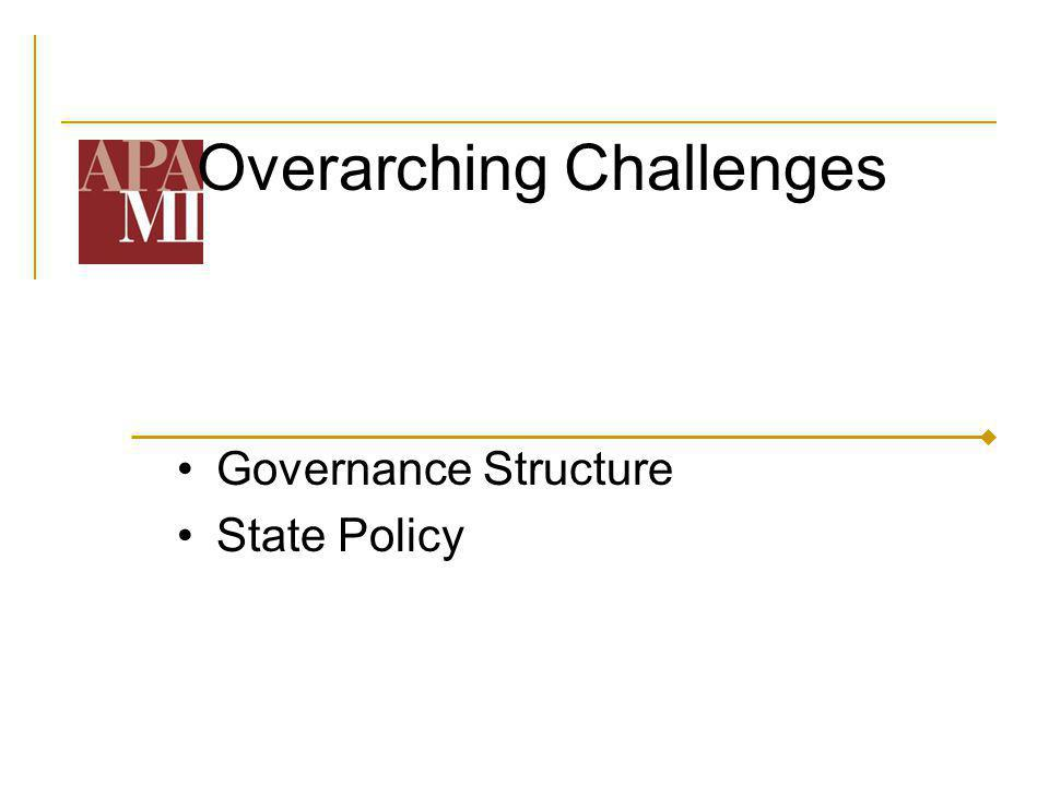 Overarching Challenges Governance Structure State Policy