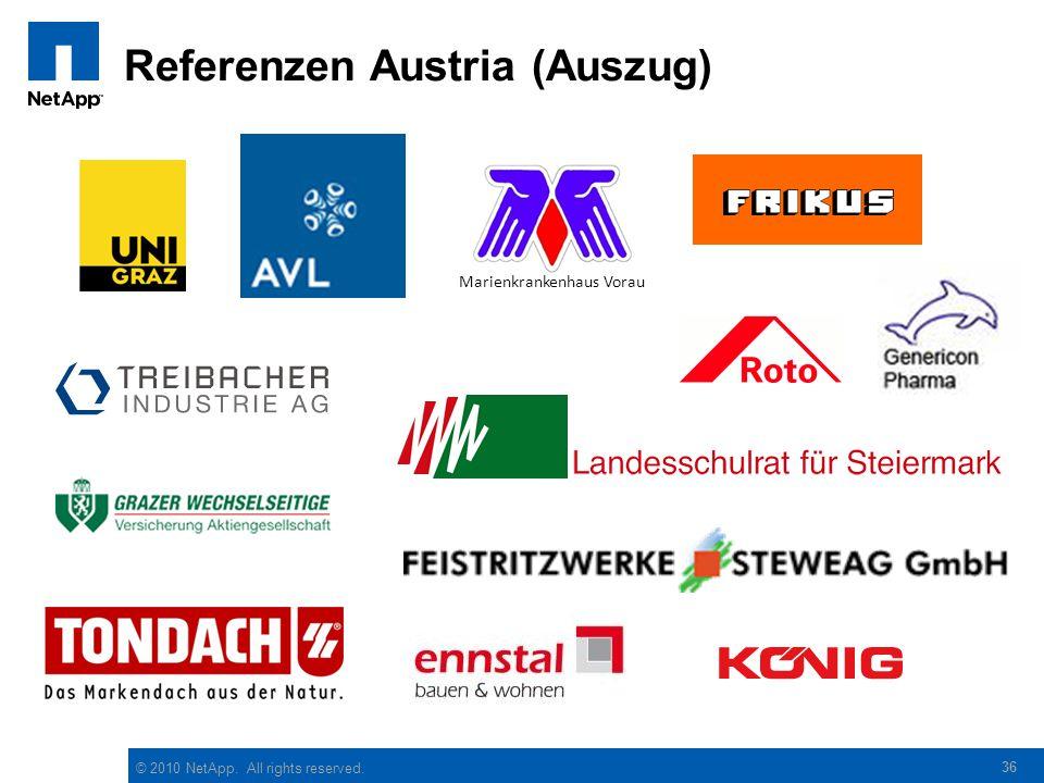 © 2010 NetApp. All rights reserved. Referenzen Austria (Auszug) 36 Marienkrankenhaus Vorau