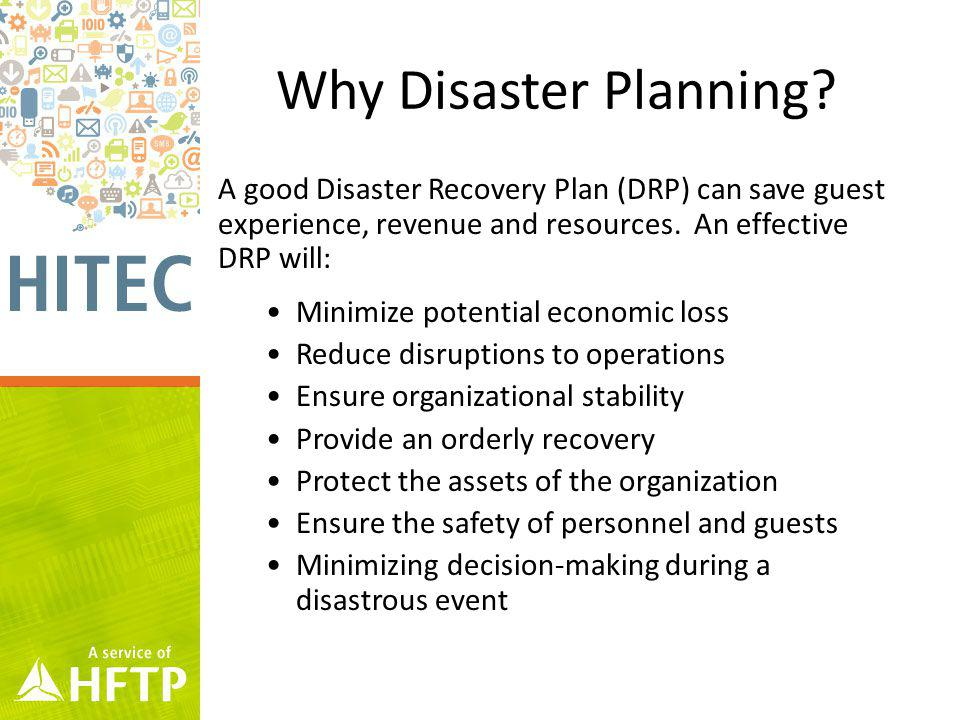 Why Disaster Planning.