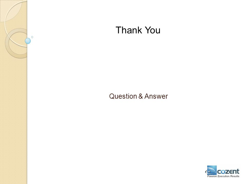 Thank You Question & Answer