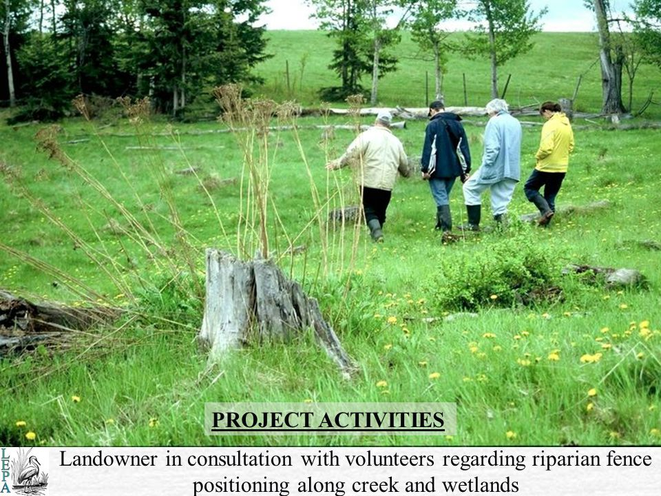 SITE IMPACTS Area #2 – overgrazing results in contaminants draining into area waters from nearby uplands Area #1 stream banks and bed devastated by years of livestock foraging