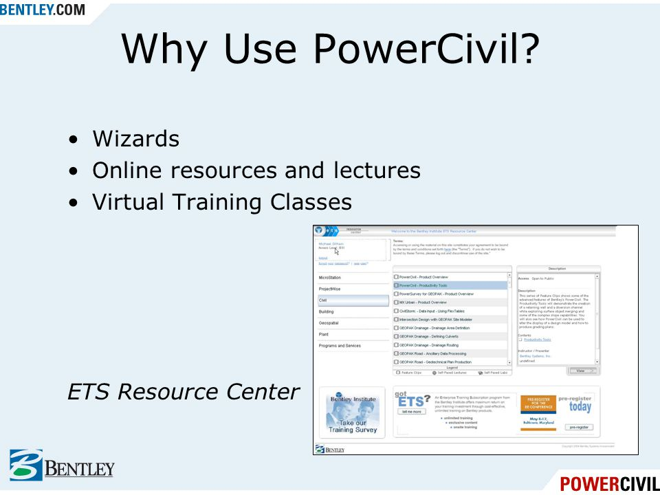 Wizards Online resources and lectures Virtual Training Classes ETS Resource Center