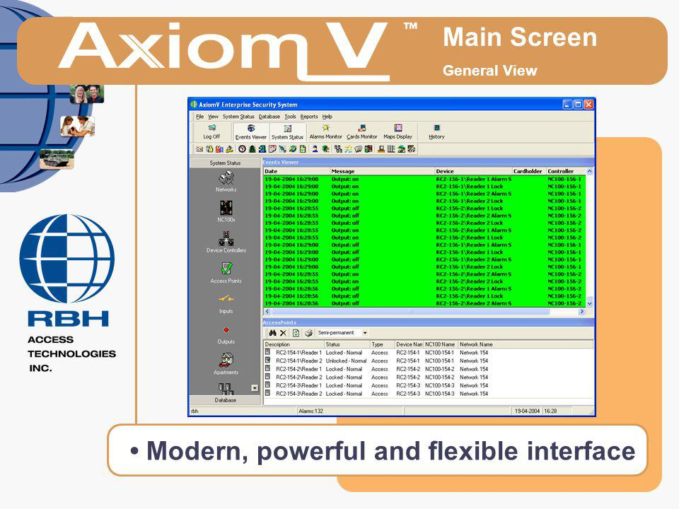 Main Screen General View Modern, powerful and flexible interface