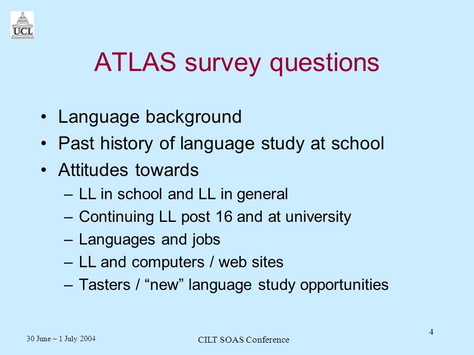30 June – 1 July 2004 CILT SOAS Conference 15 Bitesize revision site